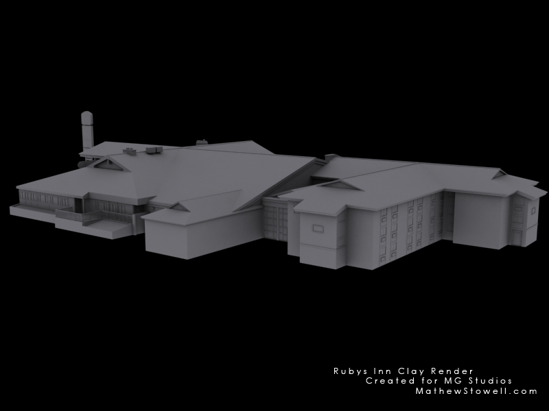 Rubys Inn clay render