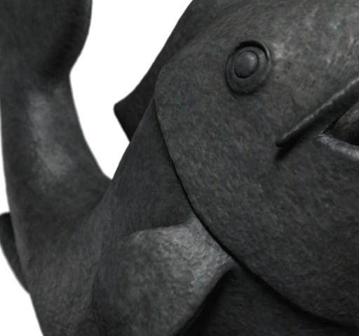 3D Koi Fish Statue