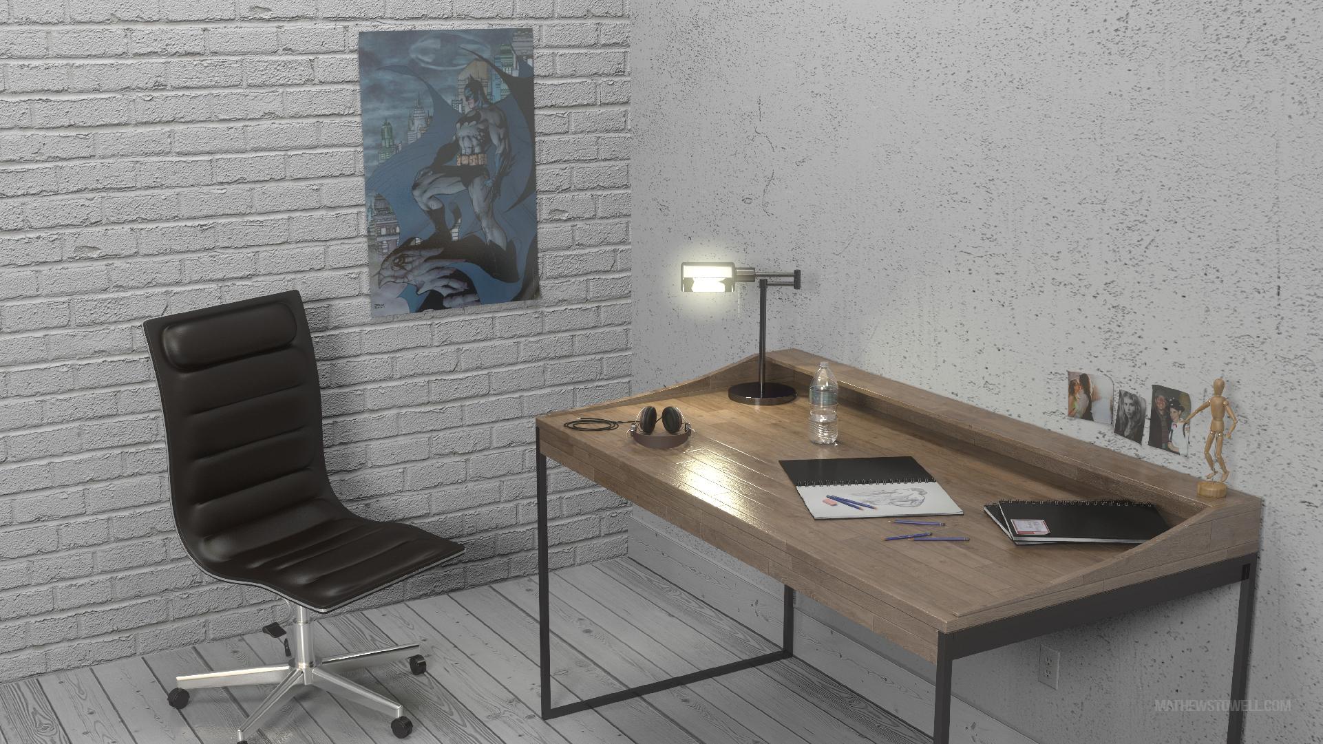 VRay Desk Scene | Mathew Stowell's Portfolio